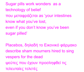sugar pills